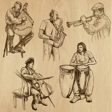 virtuoso: Music around the World  vector pack no 3  - hand drawings