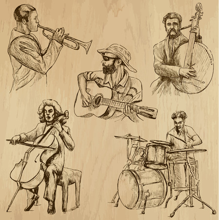 Music around the World  vector pack no 4  - hand drawings Vector