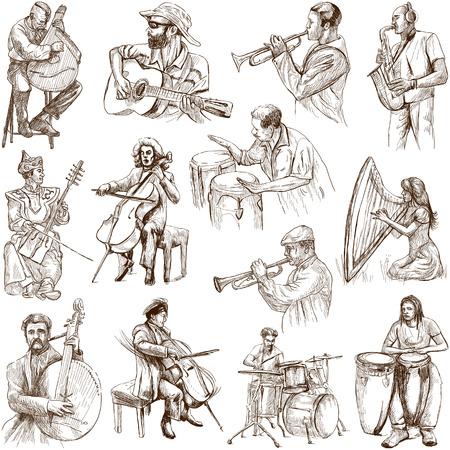 Musicians and Music around the World  set no  2, white