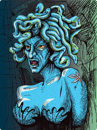 dreadful: Gorgon - a female dreadful creature