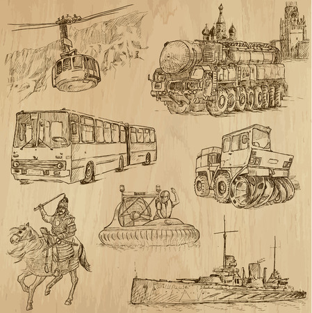 Transport around the World  vector pack no 8  - hand drawn