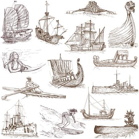 Boats and Ships around the World  set no  1, white   photo
