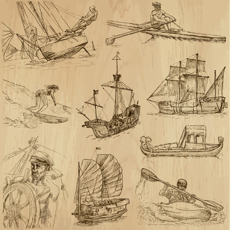 no 1: Ships and Boats around the World  vector pack no 1