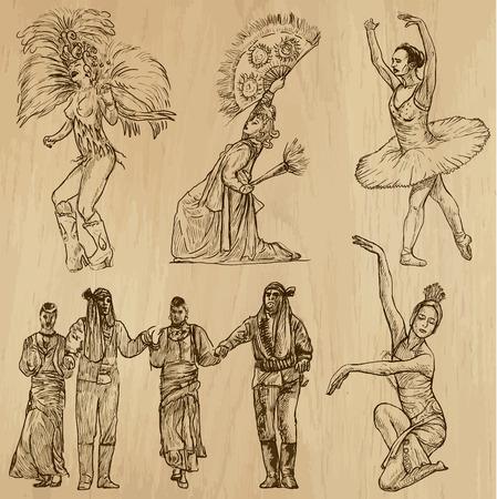 Dancing People around the World Stock Vector - 29265325