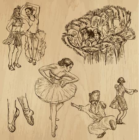 Dancing People around the World  Stock Vector - 29265342