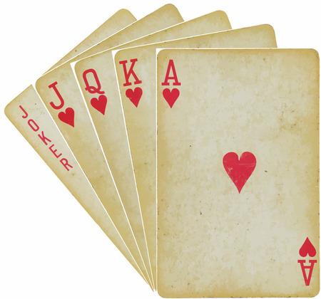 bluff: carte da gioco - dritto - vector