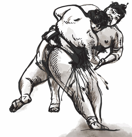 it is full: An hand drawn (converted) vector from series Martial Arts: SUMO. Sumo is a competitive full-contact wrestling sport originated in Japan, the only country where it is practiced professionally.