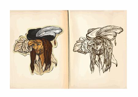 Libro Para Colorear Para Niños. Una Mano Ilustraciones Extraídas De ...
