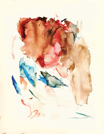 converted: Water colors spots resembling a human head. Water colors spots converted into vector file.
