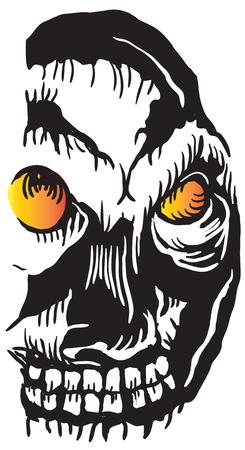 incubus: An hand drawn vector illustration - skull