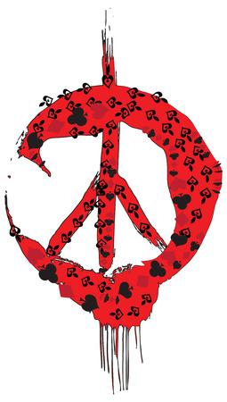 hippy: Hippie, Hippy - An hand drawn vector.