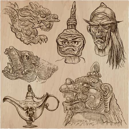 Pack of monsters. Illustration
