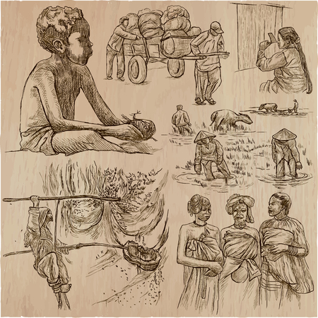People hand drawn collection. Vektorové ilustrace