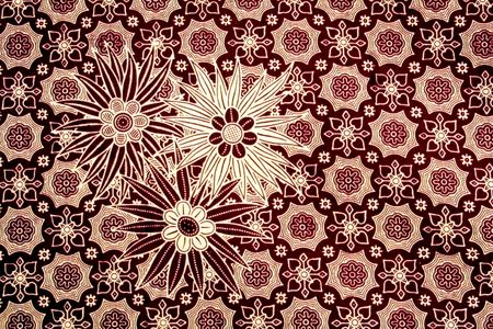 batik motif: Batik -Pattern Stock Photo