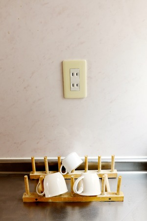 inset: Outlet of the kitchen Stock Photo