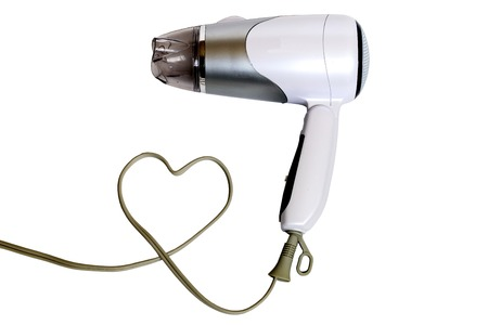 Hair dryer. Stock Photo