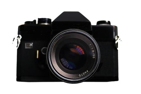古典的な単一レンズの反射カメラ。