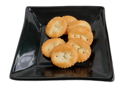 dun: a cracker. a biscuit. Stock Photo