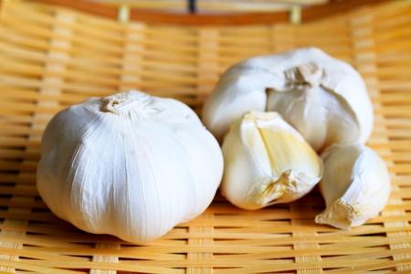 perennials: garlic Stock Photo