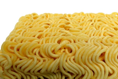 instant ramen: Instant noodles. Stock Photo
