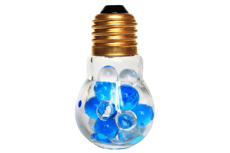 glass containers: Deodorizing fragrant beads and bulb-shaped glass containers Stock Photo
