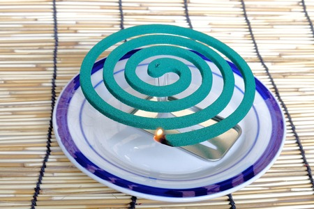 repel: Mosquito coil. Repel mosquitoes in the components in the smoke.