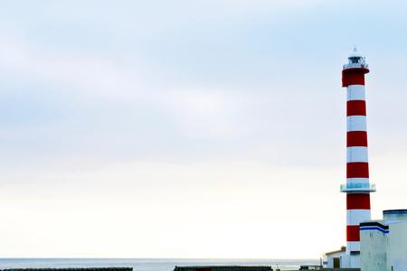 Morning of Wakkanai Lighthouse. Noshappumisaki.