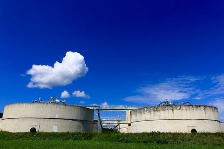 sewage: Tank of sewage processing. Stock Photo