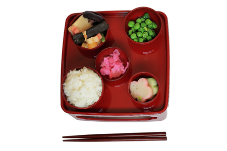 Ozen. Ozen is of Japanese food tray. The style of Japanese Buddhist. Is vegetarian food. It is a set menu for offerings to the altar.