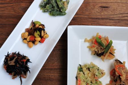 beancurd: Japanese food. Vegetarian dishes. Stock Photo