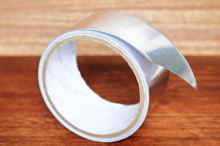 Tape of aluminum. Tape for repair.