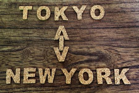東京とニューヨーク 写真素材