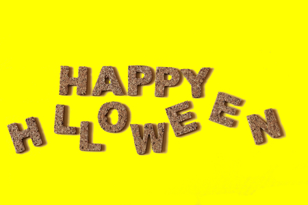 alphabetic character: HAPPY HALLOWEEN