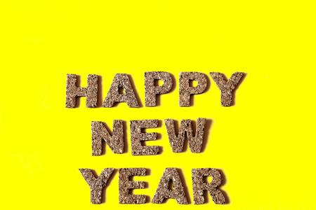 alphabetic character: HAPPY NEW YEAR