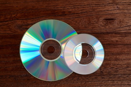 compact disk: Compact disk. 8 cmCD and 12cmCD. Stock Photo