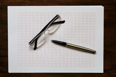 Manuscript paper. Homemade manuscript paper.