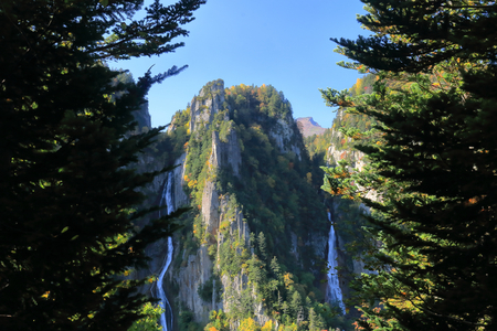 Autumn Soubakudai. Soubakudai the place to see the two of the waterfall. Ginga Falls and Rkusei waterfall. The Japanese name of the waterfall