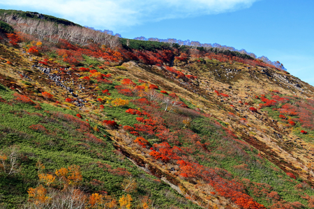 Ginsendai to autumn leaves. Ginsendai tourist attractions.