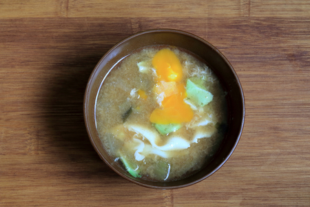 busting: Otositamagoziru. Put the eggs in the miso soup.