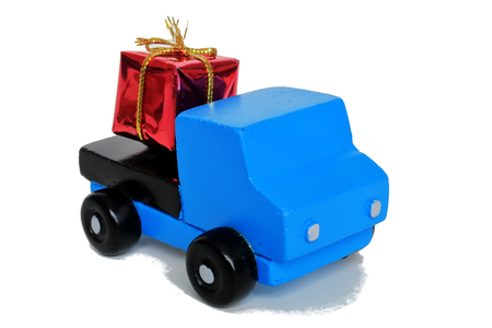 consignee: Gifts and trucks Stock Photo