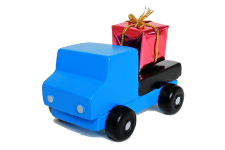 Gifts and trucks Stock Photo