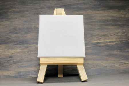 easel: Easel and canvas Stock Photo