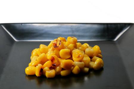 Stir-fried corn Stock Photo