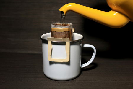 ドリップコーヒー 写真素材
