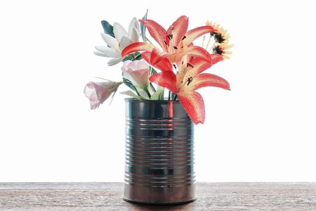 造花・空き缶