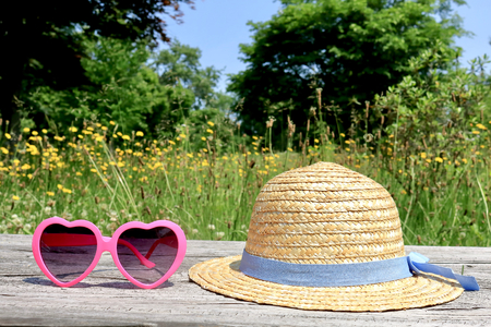 Straw Hat and picnic