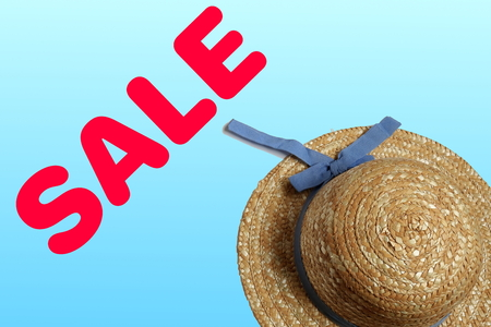 Straw Hat and Summer Sale