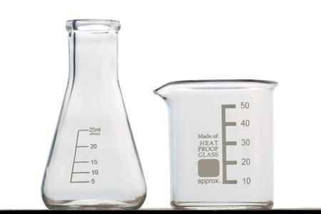 erlenmeyer: Beaker and Erlenmeyer flask