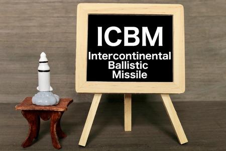IcbimIntercontinental Ballistic Missile Stock Photo