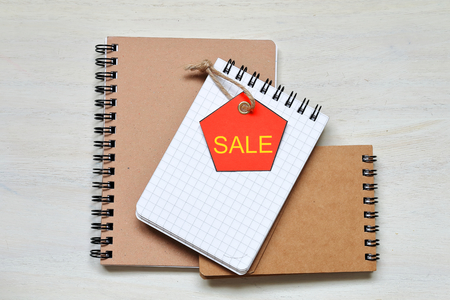タグを作った自己販売 写真素材